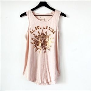 Lucky Brand | Peach El Sol Muscle Tank Top S
